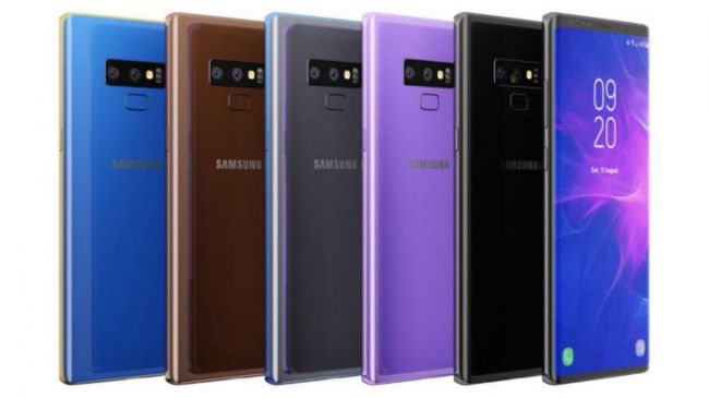 Samsung Note 9 colors